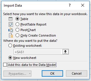 import data