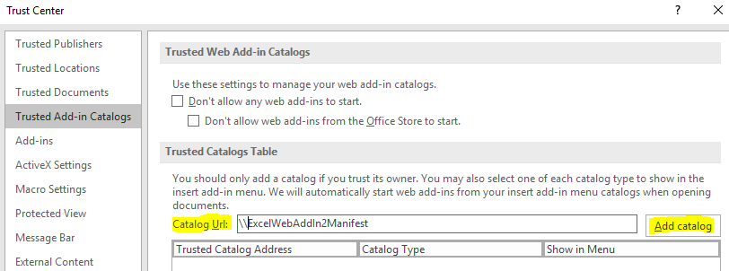 add catalog